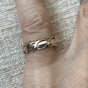 Sterling silver & 14k Gold wrapped ring